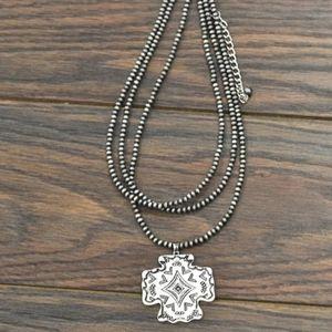 Boho Glamour  Navajo Necklace